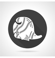 Coral fish black round icon vector image vector image