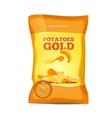 Crisp potato chips snacks bag package vector image vector image