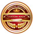 Custom Made Original Label vector image