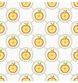 Cut apples pattern vector image