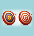 dart target with arrow vector image