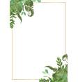 Decorative golden rectangular frame with