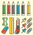drawing tools vector image vector image