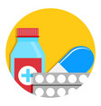 drug icon vector image vector image
