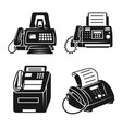 fax icons set simple style vector image