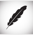 feather icons set on white background for graphic vector image
