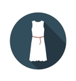 Flat Design Concept White Dress With Long Sh vector image