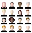 Flat people icons Set of stylish people icons on vector image vector image
