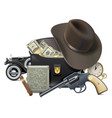 gangster concept with money vector image