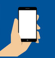 hand holing black smartphone vector image vector image
