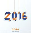 Happy New Year Card blue and orange vector image vector image
