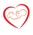 heart and baby symbols vector image