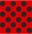 ladybug pattern seamless vector image vector image