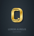 Letter Q elegant gold font Template for company vector image