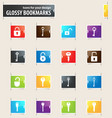 lock and key bookmark icons vector image vector image