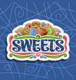 logo for sweets vector image vector image