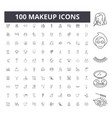 makeup line icons signs set outline vector image vector image