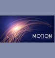 motion light effect shining wave glow design vector image vector image