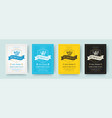 oktoberfest flyers or posters retro typography vector image