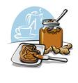 peanut butter sandwich vector image vector image
