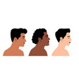 persons of different nationalities in profile vector image