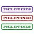philippines watermark stamp vector image vector image