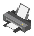 printer isometric view vector image vector image
