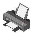 printer isometric view vector image