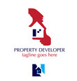 property developer hand symbol vector image