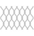 rabitz metallic wire mesh pattern - twisted wire vector image
