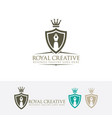 royal creative logo design vector image