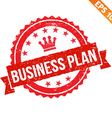 Rubber stamp business plan - - EPS10 vector image vector image