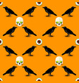 scary halloween seamless pattern vector image vector image
