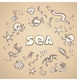 Sea life elements vector image