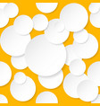 seamless texture circles for design on orange vector image vector image