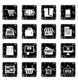 Shopping set icons grunge style vector image vector image