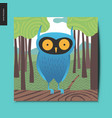 simple things - blue owl vector image