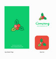 socks company logo app icon and splash page vector image vector image