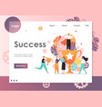 success website landing page design vector image vector image