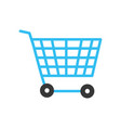 technology shopping car to buy online vector image vector image