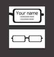 template two-sided business card with eyes vector image