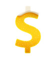 the symbols for alphabet in form lemonade vector image