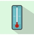 Thermometer for outdoor icon flat style vector image