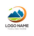 travel logo and icon design vector image
