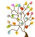 tree floral vector image vector image