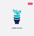 two color kumbh kalash icon from india concept vector image vector image