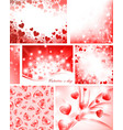 valentine collection vector image