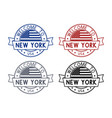 welcome to new york usa travel stamp with vector image