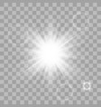 white shining sun vector image