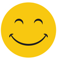 Yellow laughing happy smile vector image